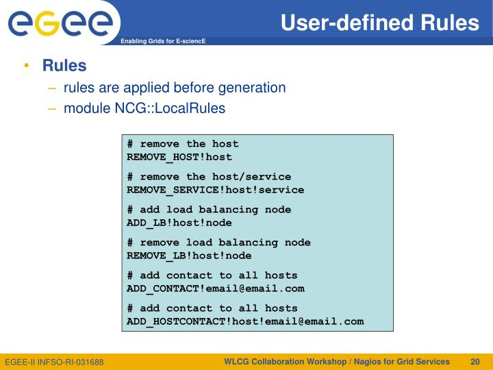 User-defined Rules