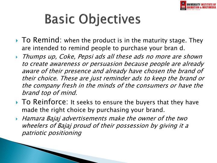 Basic Objectives