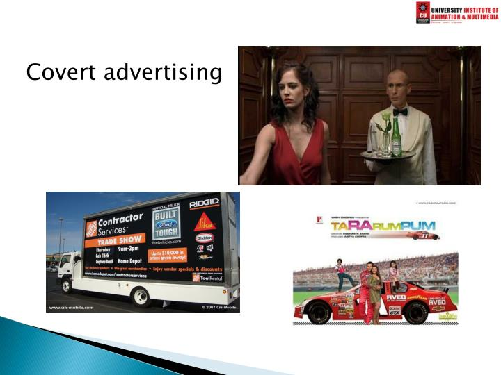 Covert advertising