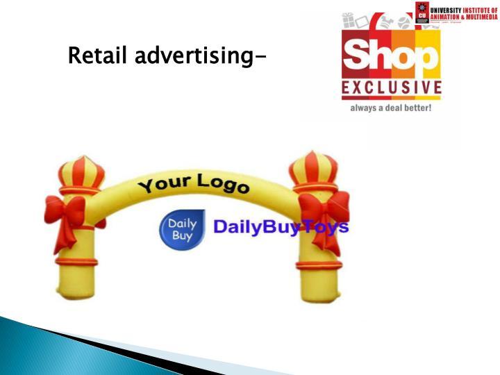 Retail advertising-