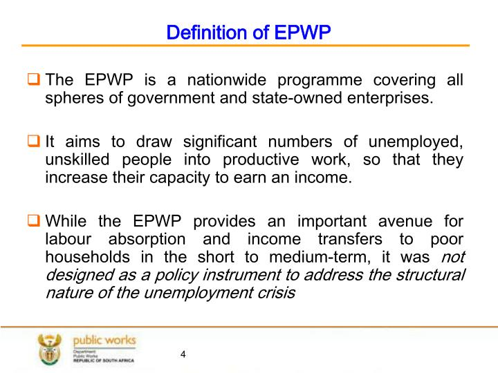 Definition of EPWP
