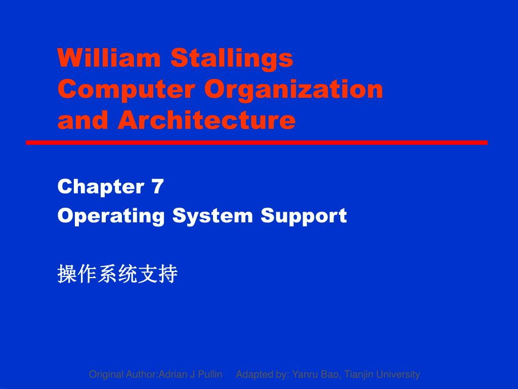 Ppt William Stallings Computer Organization And Architecture