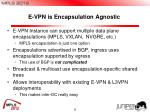 e vpn is encapsulation agnostic