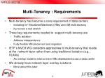 multi tenancy requirements