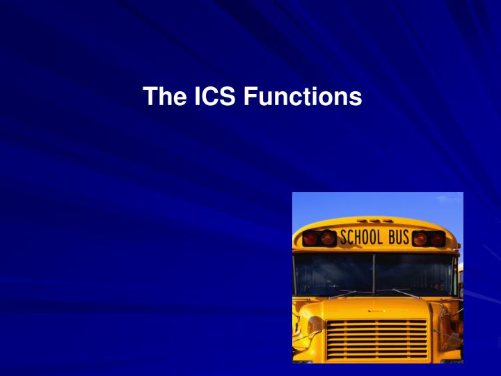 The ICS Functions
