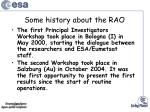 some history about the rao1