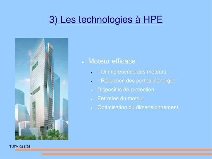 3) Les technologies à HPE