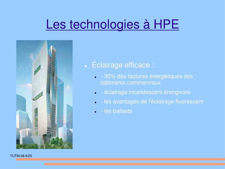 Les technologies à HPE