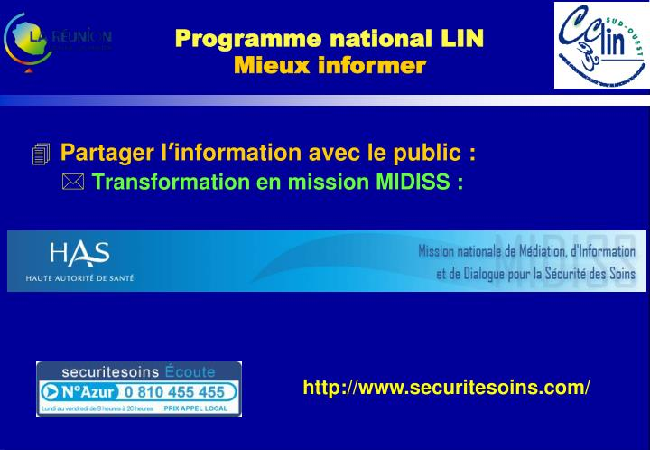 Programme national LIN