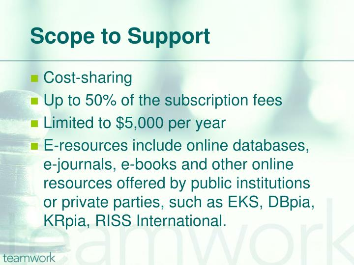 Scope to Support