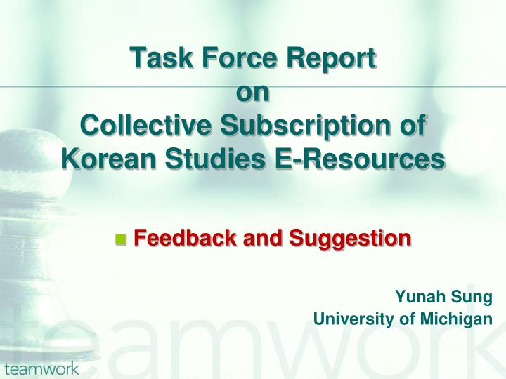 Task Force Report