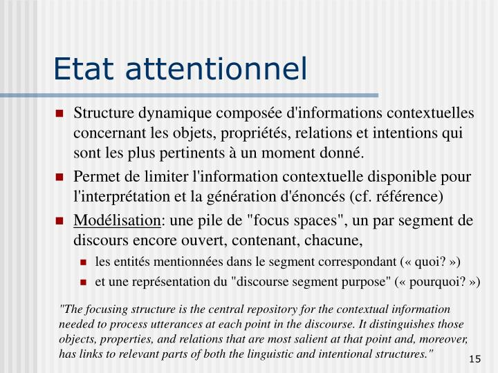 Etat attentionnel