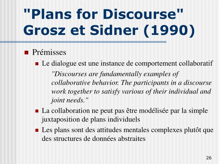 """Plans for Discourse"""