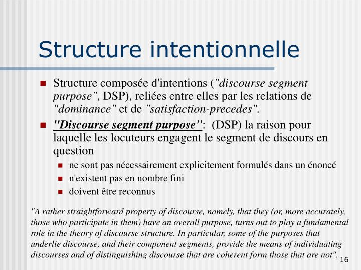Structure intentionnelle