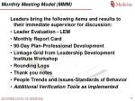 monthly meeting model mmm
