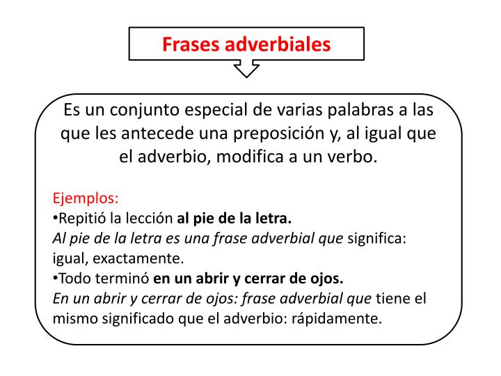 Frases adverbiales