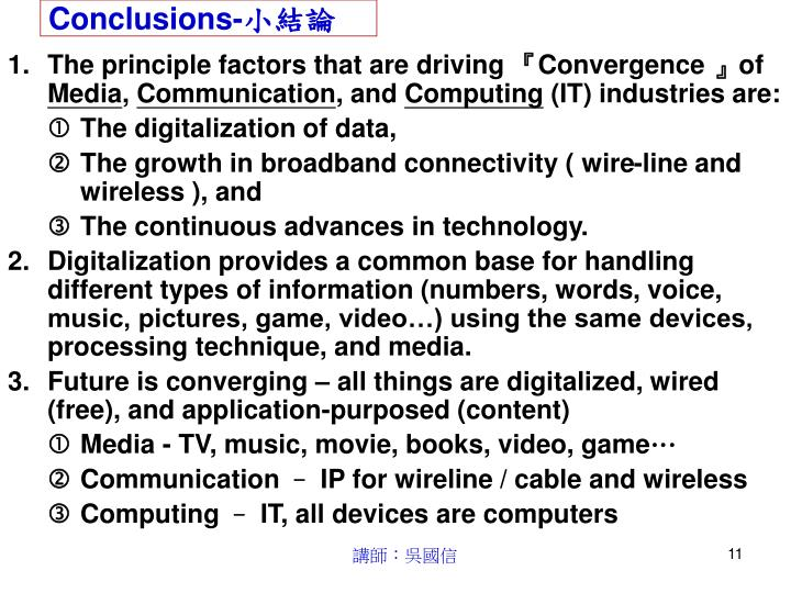 Conclusions-