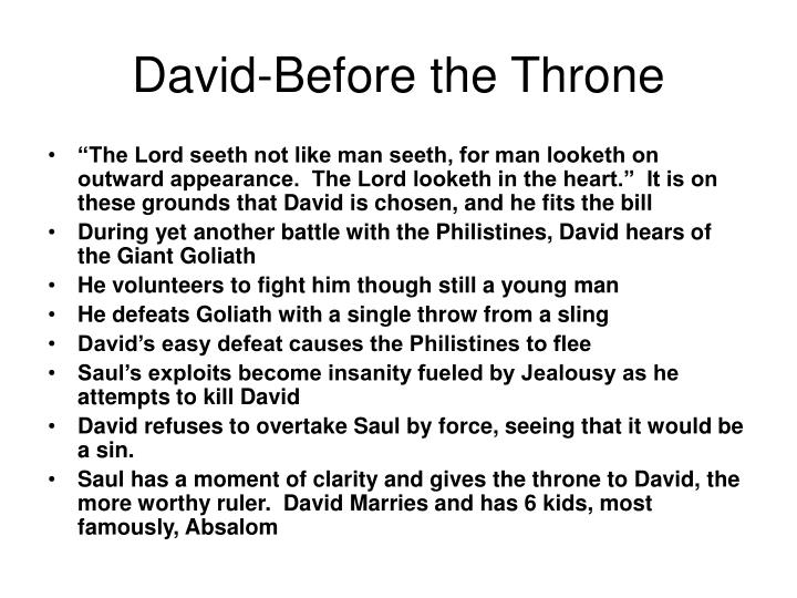 David-Before the Throne