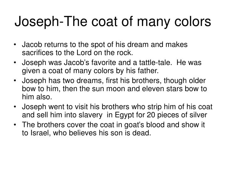 Joseph-The coat of many colors