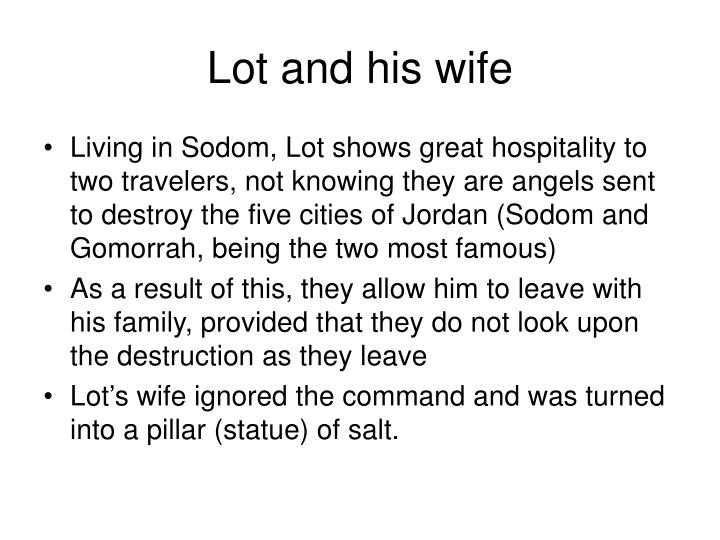 Lot and his wife