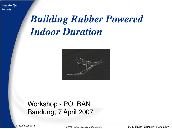 Building Rubber Powered
