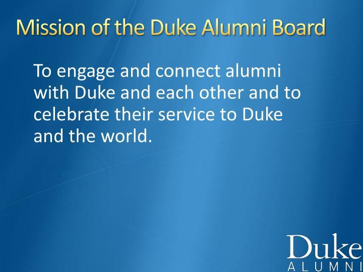 Mission of the Duke Alumni Board