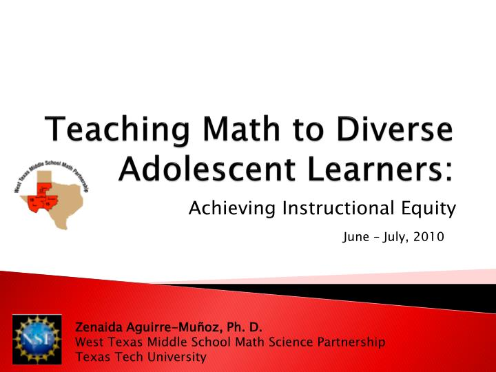 teaching math to diverse adolescent learners n.