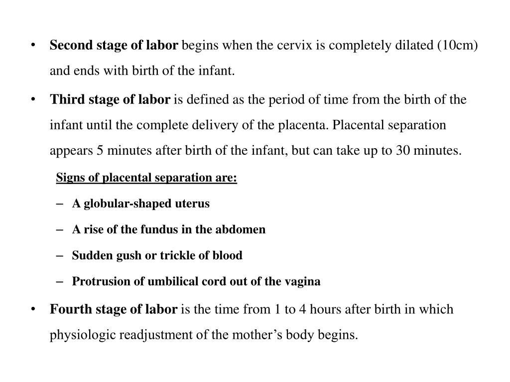 PPT - Chapter 22: processes and stages of labor and birth PowerPoint