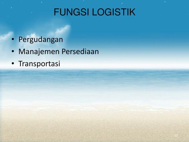 FUNGSI LOGISTIK