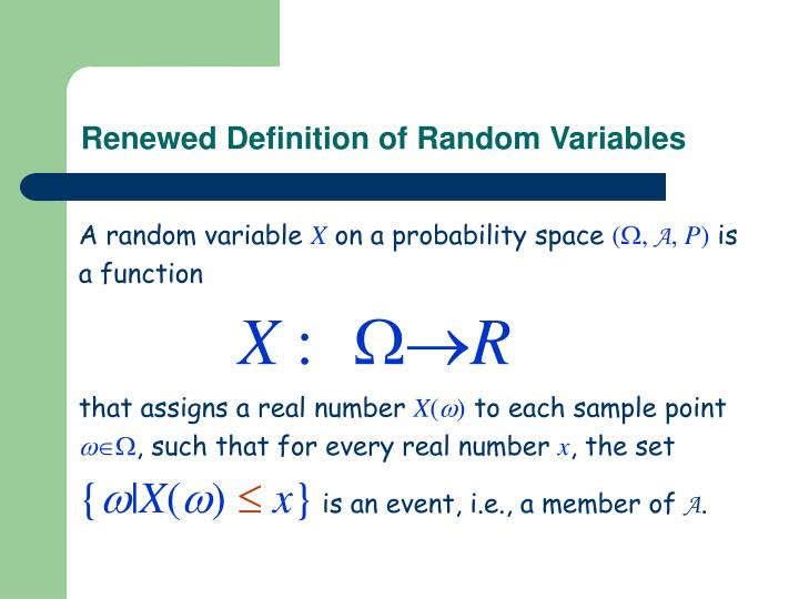 Renewed Definition of Random Variables