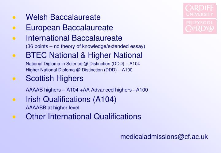 Welsh Baccalaureate