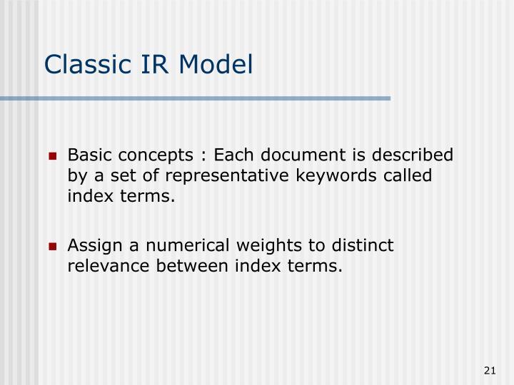 Classic IR Model