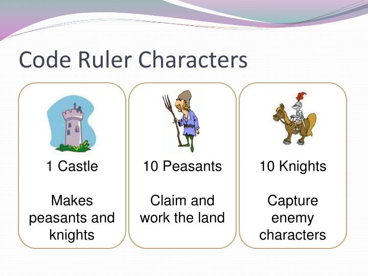 Code Ruler Characters