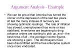 argument analysis example
