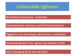 u nbearable lightness