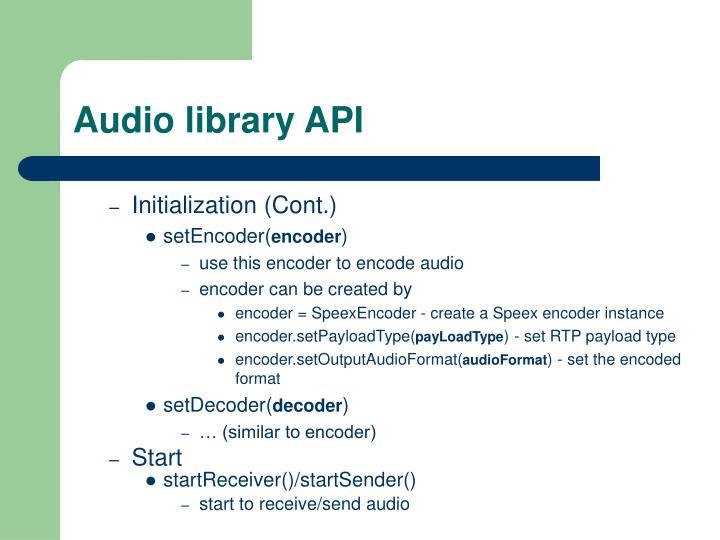 Audio library API