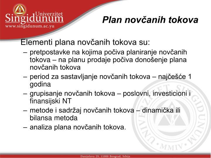 Plan novčanih tokova