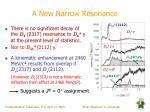 a new narrow resonance2