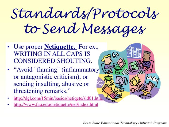 Standards/Protocols to Send Messages