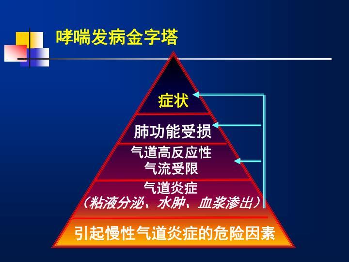 哮喘发病金字塔