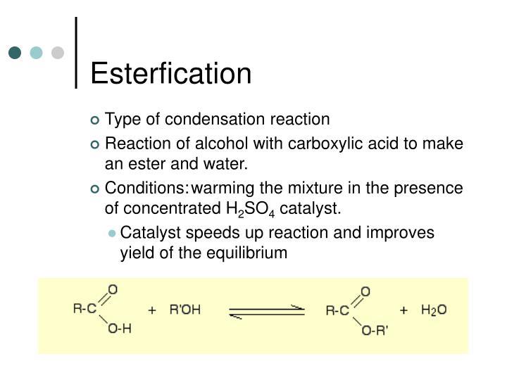 Esterfication