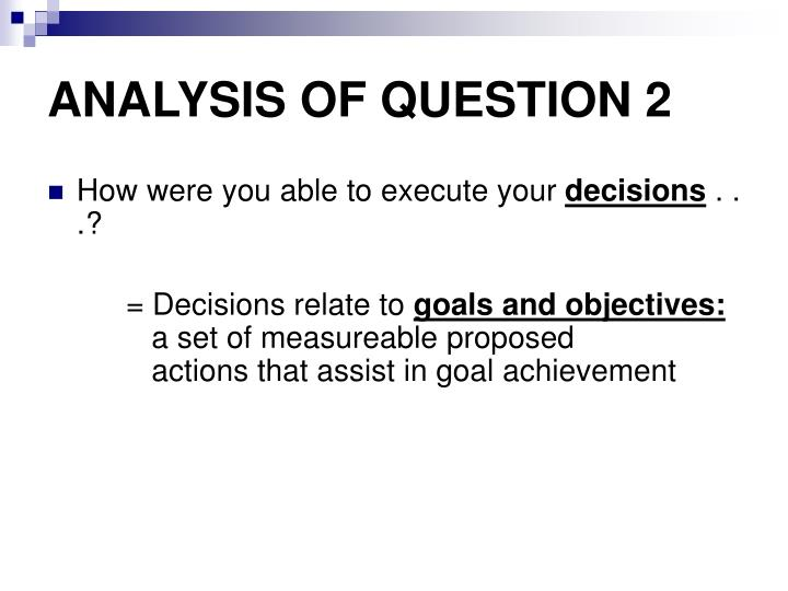 ANALYSIS OF QUESTION 2