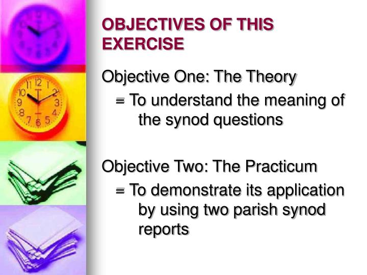 Objectives of this exercise