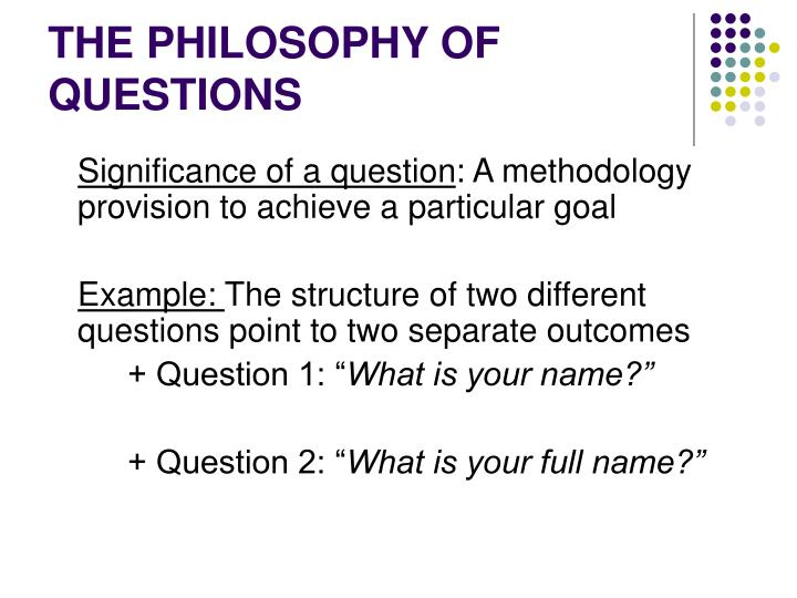 The philosophy of questions