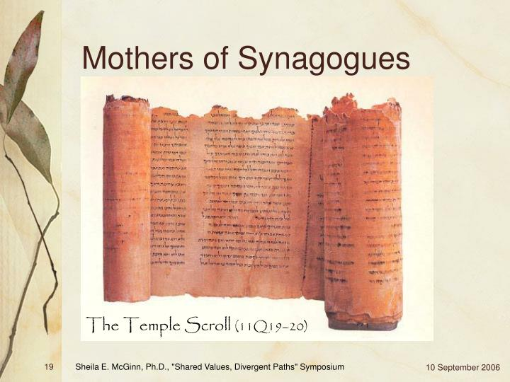 Mothers of Synagogues