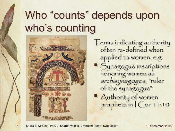 """Who """"counts"""" depends upon who's counting"""