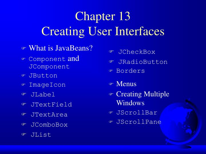 chapter 13 creating user interfaces n.
