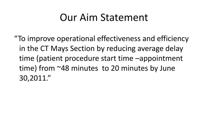 Our Aim Statement