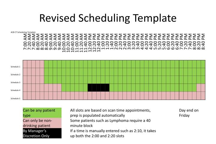 Revised Scheduling Template