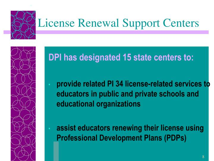 License Renewal Support Centers
